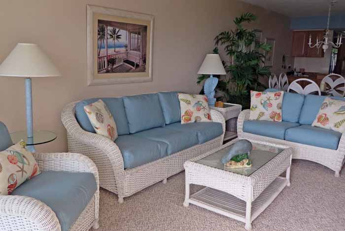Sand Pointe #226 Living Room with Queen Size Sofa Sleeper and Love Seat