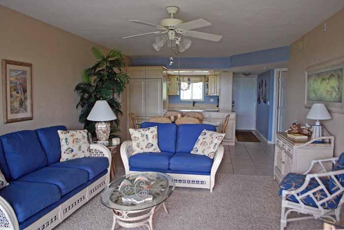 Gulf Beach #103 Living Room