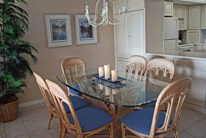 Gulf Beach #103 Dining Room