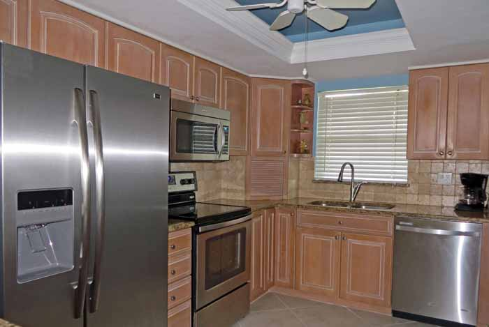 Sand Pointe #226 Renovated Kitchen with Stainless Steel Appliances