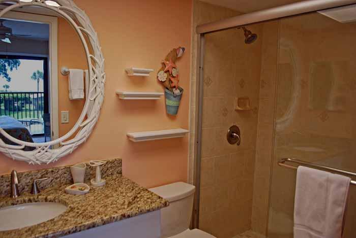 Sand Pointe #226 Master Bath with Walk-in Shower