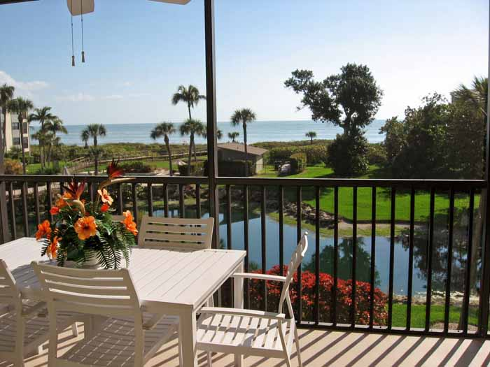 panoramic Gulf View from Sand Pointe #226 on Sanibel Island